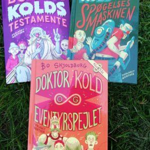Doktor Kold-serien._Sjov børnebog af Bo Skjoldborg. Action. Krimi. Humor. Sjove bøger.