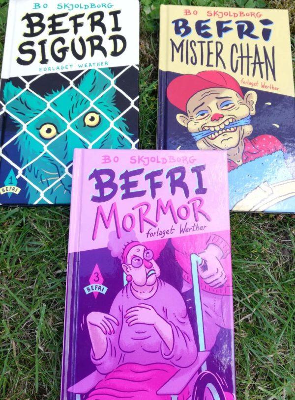 Befri-serien._Sjov børnebog af Bo Skjoldborg. Action. Krimi. Humor. Sjove bøger.