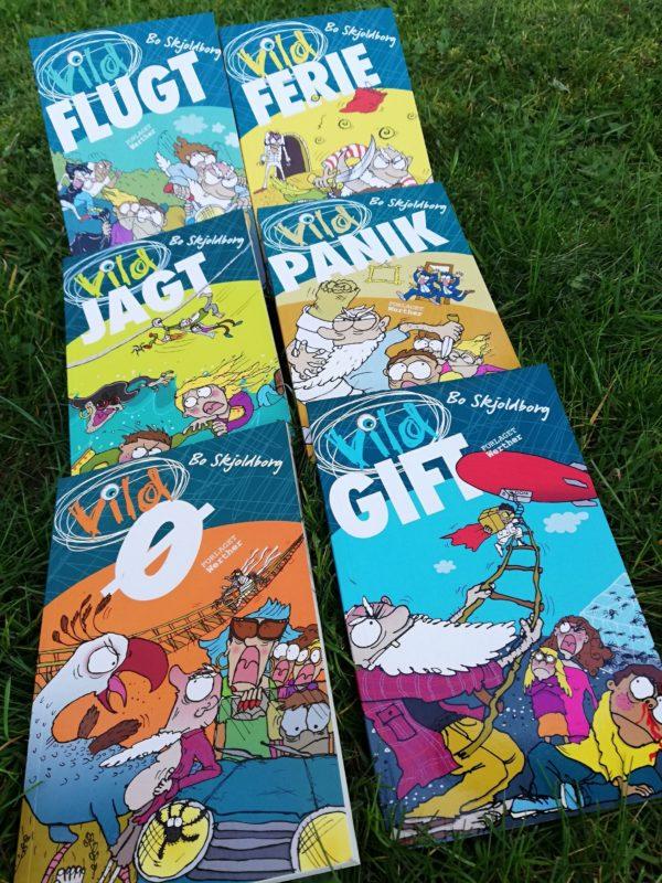 Vild bøgerne_Bo Skjoldborg_sjove_børnebøger_vild-bøgerne_action_krimi_humor_spænding_børnebog